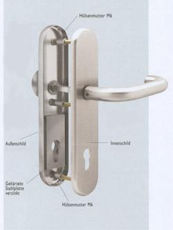 Schutzgarnitur mit Stahleinlage