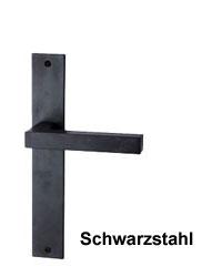 Farbbeispiel: Schwarzstahl Oberfläche - jede Garnitur ein Unikat