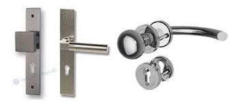 Wechselgarnitur WE mit Knopf/Drücker als Langschild- oder Rosettengarnitur