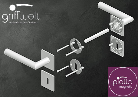 Griffwelt 2-teilige Flachrosette - Magnet