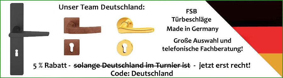 Unser Team Deutschland: FSB Türbeschläge - Made in Germany